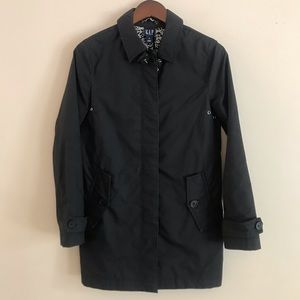 GAP Thin Black Trench Coat Style Jacket - XS